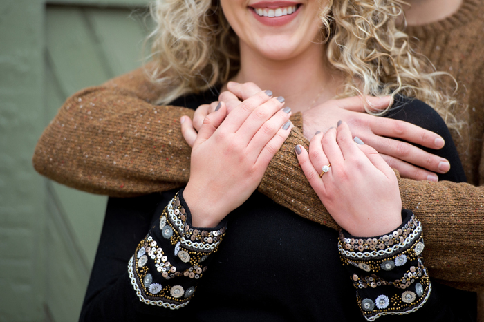 Bride-to-be-showing engagement ring