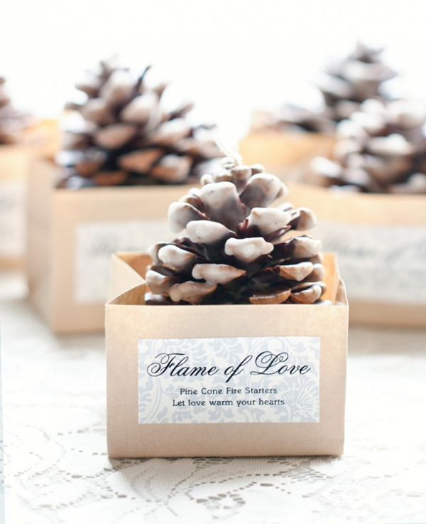 Cone Shaped FIre Starters - Christmas Winter Weddings