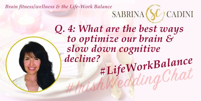 What are the best ways to optimize our brain & slow down cognitive decline?  Sabrina Cadini-Holistic Life and Brain Fitness Coach