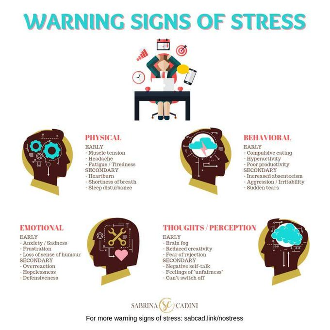 Warning signs of stress Sabrina Cadini-Holistic Life and Brain Fitness Coach