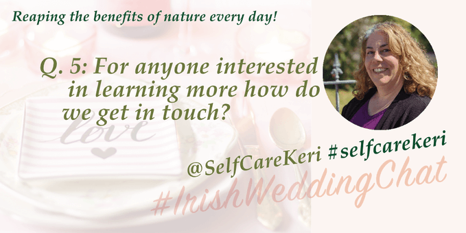 Reap the benefits of nature Q5 How do we get in touch?