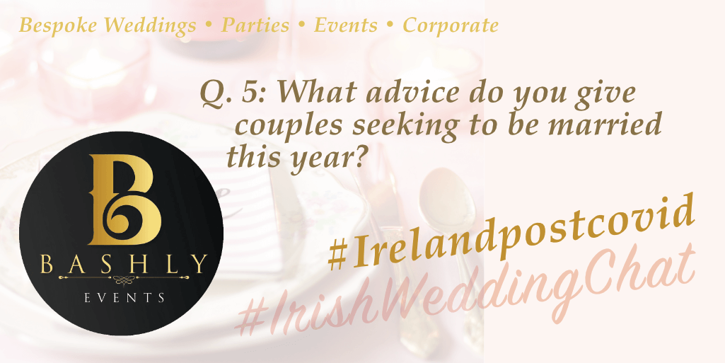 What advice do you give couples seeking to Wed this year?