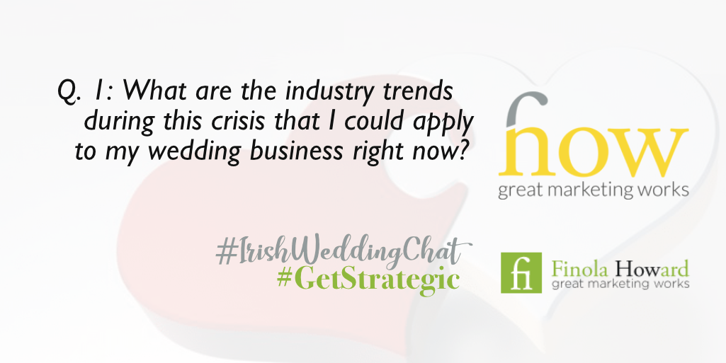 Q1: What are the industry trends during this crisis that I could apply to my wedding business right now? How Great Marketing Works | Irish Wedding Chat