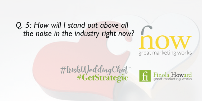 What have you got that you can apply outside your own industry with relative ease? Can you tap into the people working from home now? What about home decor / gardening which has seen huge increases? How Great Marketing Works | Irish Wedding Chat | Twitter Q & A