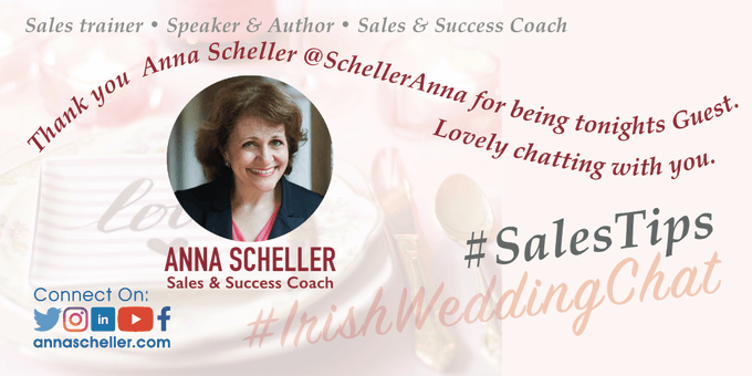 Thank you Anna Scheller - Sales and Success Coach. | Irish Wedding Chat - Twitter Q & A